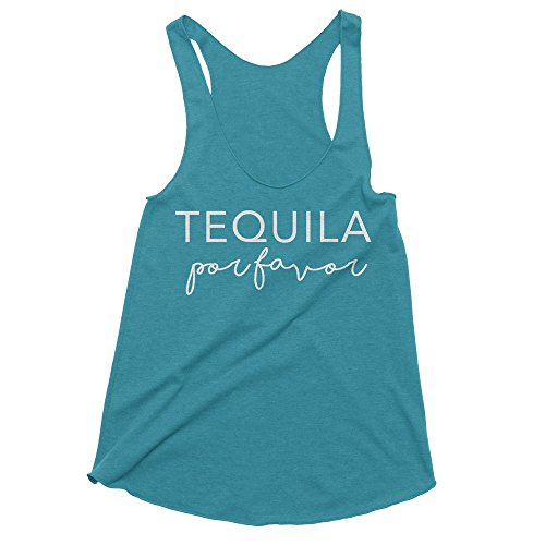 Spunky Pineapple Premium - Tequila por Favor Funny Mexico Vacation Tank Top by (Tequila Premium Ultra)