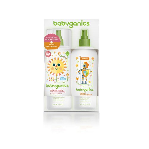 BabyGanics Mineral-Based Sunscreen Spray & Natural Insect Repellent