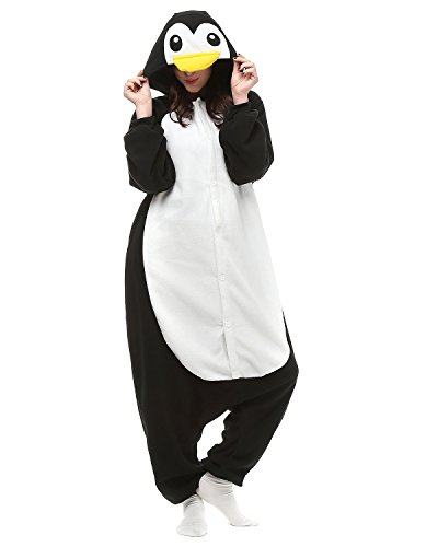 [Women Mens's Animal Kigurumi Penguin Oneise Costumes Halloween Partywear Warm Outfit X-Large] (Parrot Costume Female)