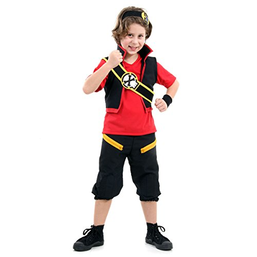 Zak Storm Luxo Infantil 35420-M Sulamericana Fantasias Preto/Vermelho M 6/8 Anos