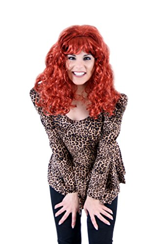 Peggy Wig and Leopard Top Costume Set
