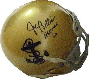 Joe Bellino signed Navy Midshipmen Schutt Authentic TB Mini Helmet Heisman 60- Hologram - JSA Certified (Authentic Tb Mini Helmet)