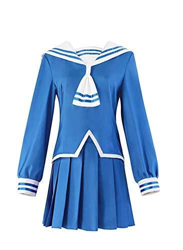 HonRmon Women's Costume Fruits Basket Cosplay Costume (Medium, Blue)