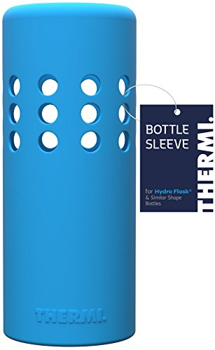 (Thermi Protective Silicone Sleeve for Hydro Flask Water Bottles (Frost Blue, 40oz))