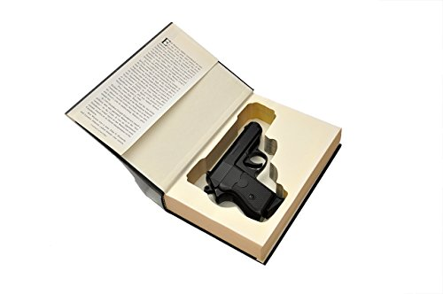 Concealed Gun Storage Book Safe for Compact Handguns - w/ Magazine Slot - Fits: Glock, Ruger, Springfield, S&W, Colt, CZ, Sig Sauer, Taurus, Kel-tec, Walther Compact and Sub-compact -