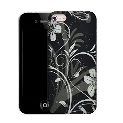 Mobile Case Mate iPhone 5c clip on Silicone Coque couverture case cover Pare-chocs + STYLET - archaic floral pattern (SILICON)