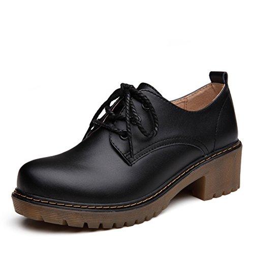 Viento de primavera de zapatos de mujer de Inglaterra/Mujeres zapatos planos/Zapatos de otoño/Zapatos de cuero casual mujeres/Zapatos Oxford C