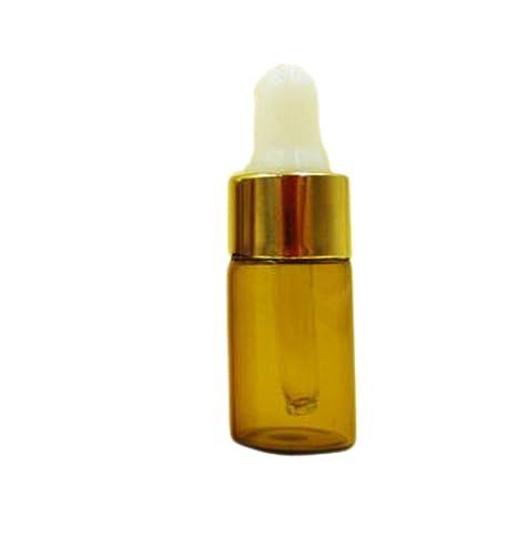 Minibotellas viales recargables con cuentagotas para aceites esenciales de aromaterapia hechas de cristal color ámbar (15 unidades, 3 ml): Amazon.es: Hogar