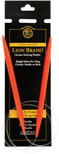 Lion Brand Yarn 400-5-1105 Circular Knitting Needles, 29-Inch, Size 11, 8mm, Red (Size 35 29 Inch Circular Knitting Needles)