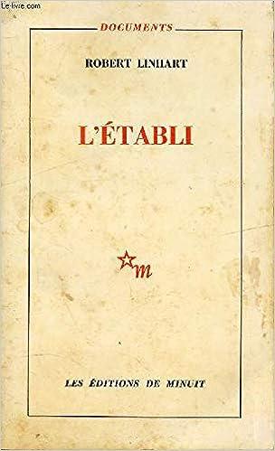 Amazon.fr - L'établi - Robert Linhart - Livres
