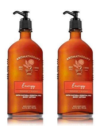 omatherapy Energy - Orange + Ginger Body Lotion, 6.5 Fl Oz, 2-Pack (Aromatherapy Body Lotion)
