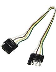 "Camco 64834 12"" 18 Gauge 4-Way Flat Trailer Connector"