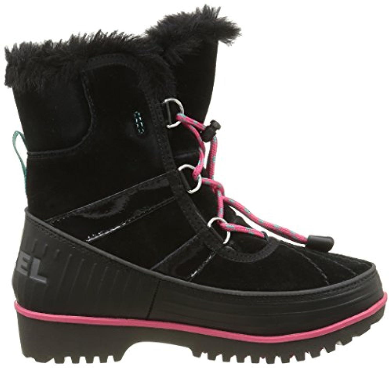 Sorel Unisex Kids Youth Tivoli II Snow Boots, Black (Black, Dark Grey 010), 1 Child UK 33 EU