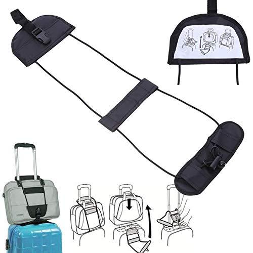 Ceinture ajustable pour bande de bagage de valise de voyage Ajouter une courroie de sac transporter l/élastique LDCRE