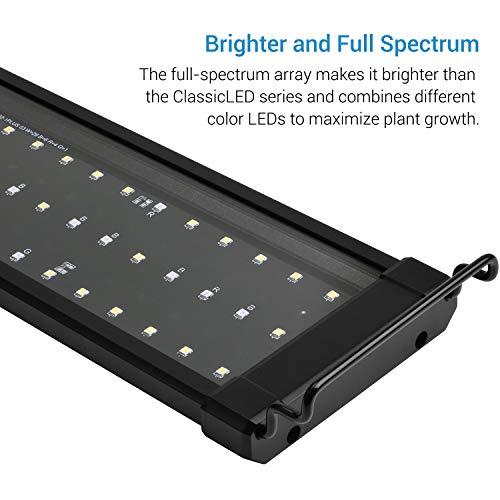 NICREW ClassicLED Plus LED Aquarium Light, Full Spectrum Fish Tank Light for Freshwater, 12 to 18-inch