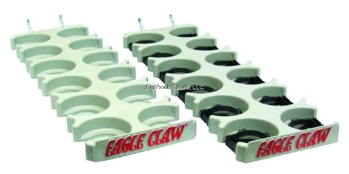 Eagle Claw Rod Rack Pegboard, Plastic Finish