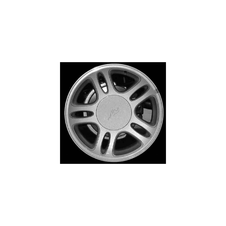 96 98 FORD MUSTANG ALLOY WHEEL RIM 17 INCH, Diameter 17, Width 8 (10 SPOKE), BRIGHT SILVER, 1 Piece Only, Remanufactured (1996 96 1997 97 1998 98) ALY03174U20