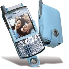 - Covertec Luxury Leather Case for Palm Treo 650 & 700 - Baby Blue