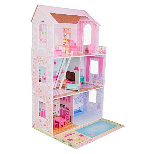 Maison de poupées enfant de luxe tout en bois et meublée