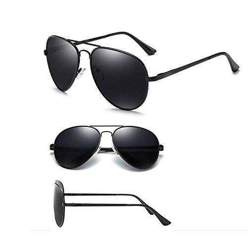 Hombres Espejo Anti Black TESITE 100 Sol Gafas De Polarizadas UV para Gafas xx0Pzw