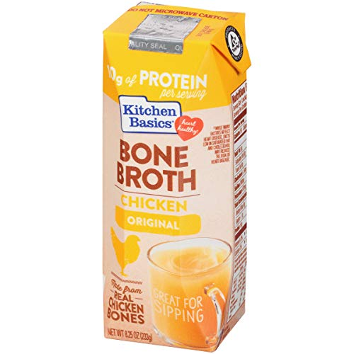 Kitchen Basics Chicken Bone Broth, 8.25 fl oz (Pack of 12) (Best Organic Chicken Broth)