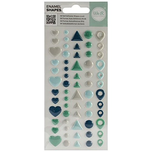 We R Memory Keepers Enamel Dots and Shapes Cool Pads, 64 Per ()