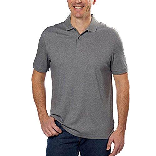 Calvin Klein Men's Lifestyle Soft Liquid Cotton Polo Shirts (X-Large, - Mens Cotton Liquid