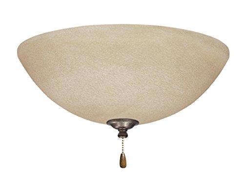 Emerson Ceiling Fans LK80VS Amber Mist Light Fixture for Ceiling Fans, Medium Base (Flush Amber Mist)