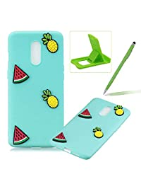 Soft TPU Case for OnePlus 7,3D Silicone Cover for OnePlus 7,Herzzer Candy Color Series Pineapple Watermelon Design Soft Gel Durable Slim Fit Flexible Scratch-Resistant Rubber Bumper Case