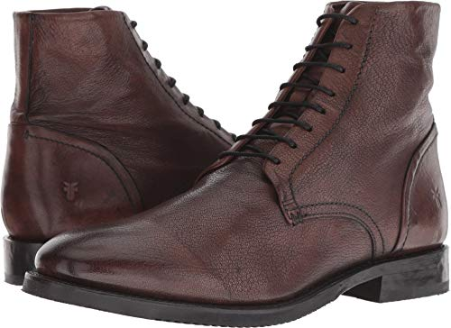 FRYE Men's Corey Lace-Up Dark Brown Goat Dip-Dye 9.5 D US