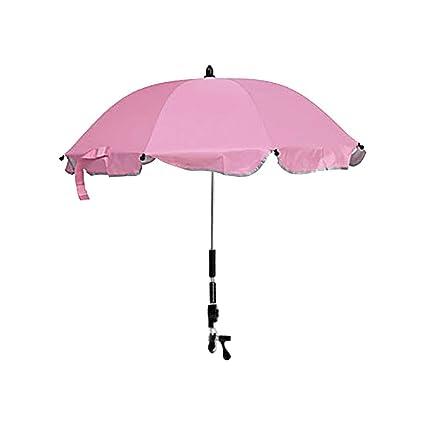 Funihut Sombrilla Carrito Bebe Universal - Paraguas Sombrilla Parasol para Cochecito Y Silla De Paseo con UV Protección 360 Grados De Dirección ...