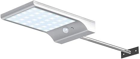 FEE-ZC 36LED Super Bright Outdoor Solar Street Light Motion Sensor Wall Lamp Garden Waterproof Gutter Door Light 3 Lighting Modes (White, 2 Pack): Amazon.es: Deportes y aire libre