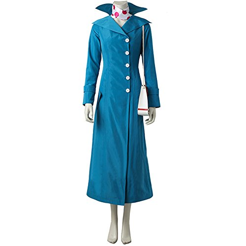 Women Adult Lucy Cosplay Costume Coat Jacket Full Suit Blue