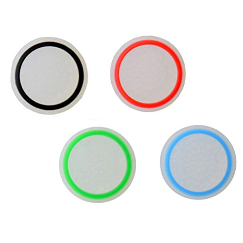 EastVita 4 PCS Replacement Silicon Thumb Grip Caps Thumbstick Noctilucent Sets for PS3 PS4 Xbox 360 Xbox One Controller White