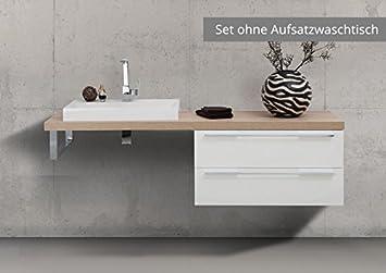 Intarbad Badmöbel Nach Maß Waschtischplatte Mit Unterschrank  Konsolenträger, Ohne Aufs.