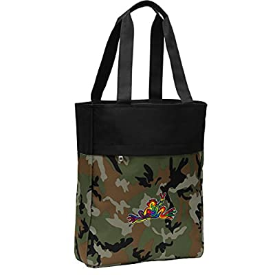 56d6073c1519 Camo Peace Frogs Tote Bag Peace Frog CarryAll Totes on sale ...