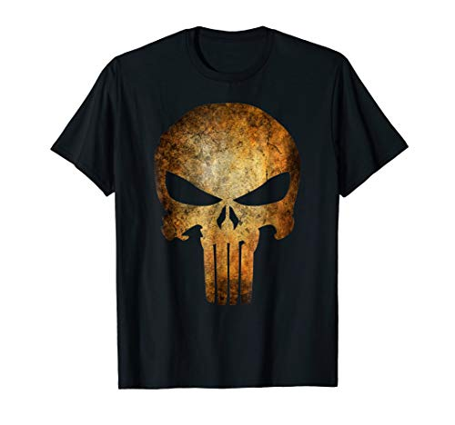 Marvel The Punisher Logo Anatomical Skull Graphic T-Shirt
