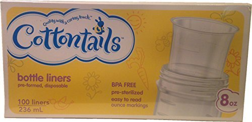 Cottontails Bottle Liners 8 Oz