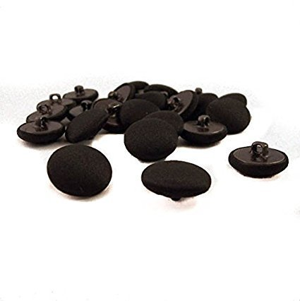 Black Buttons Satin - 10, 5/8