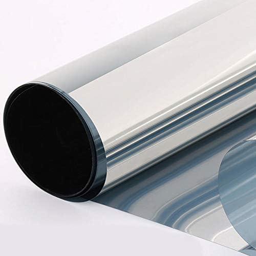 50x100cm Fen/être Film Miroir dargent /à sens unique Isolation Stickers solaire r/éfl/échissant D/écoration de fournitures pour animaux Film Salle de bain D/écoration dint/érieur