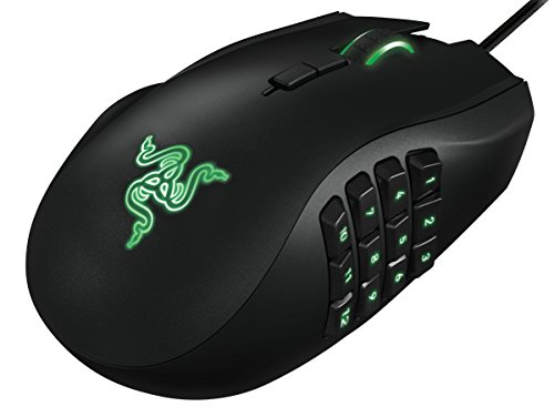 Razer Naga Left-Handed - Ergonomic MMO Gaming Mouse with 12 Programmable Thumb Buttons - 8,200 Adjustible DPI