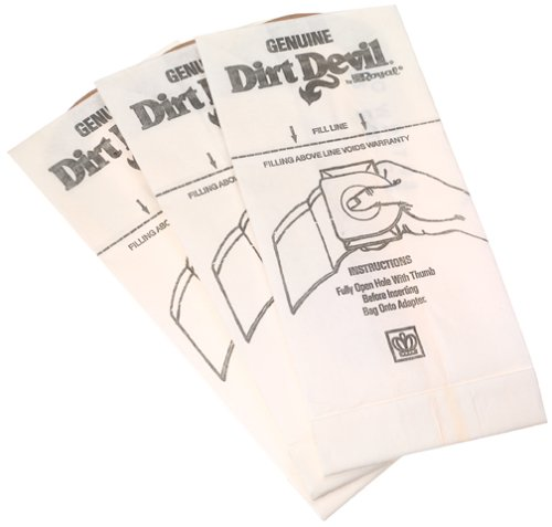 Dirt Devil Type G Handheld Vacuum Bags (3-Pack), 3010347001, White (Type Dirt Replacement Devil)