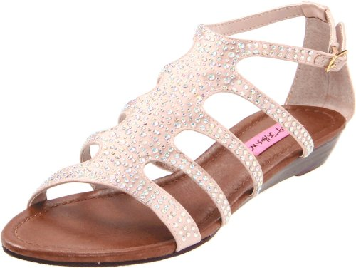 Boho-Chic Vacation & Fall Looks - Standard & Plus Size Styless - Betsey Johnson Women's Cristals Sandal,Nude,7 M US