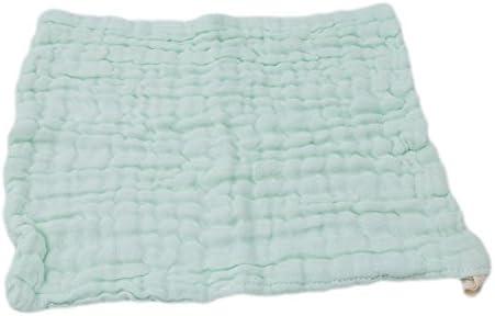 gluckliy muselina Manopla y toallas de mano para pieles sensibles, naturales paños y suave toalla para cara, manos y cuerpo, algodón, verde, medium