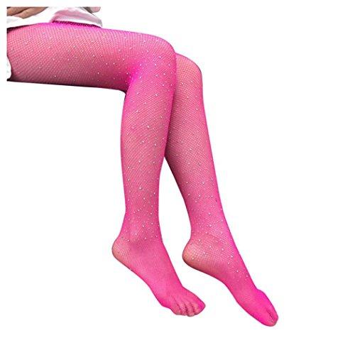 Kvinner Fishnet Sokker, Inkach Kvinner Netto Fishnet Bodystockings Mønster  Strømpebukse Strømpebukse Strømper Hot Pink