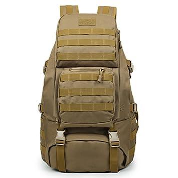 eb5ca3717b Huntvp 55L Sac à Dos Tactique Molle Militaire Sac de Grande Capacité  Imperméable Sac de Multifonction