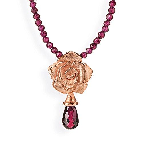 Drachenfels-pendentif femme-Rose of Antoine argent 925 avec grenat rouge mat-brillant D ROF 31-5/RG