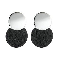 Phlpsee Statement Earrings 2019 Metal Wooden Earrings For Women Gold And Silver Jewelry Ethnic Drop Earrings