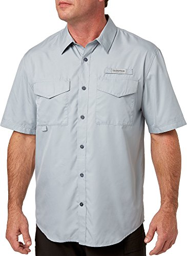 Field & Stream Men's Short Sleeve Latitude Fishing Shirt - Quarry Grey, XXL
