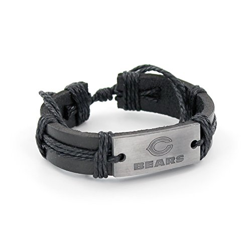 - NFL Chicago Bears Vintage Leather Bracelet